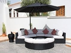 The luxurious Havana Garden Sofa is designed to be incredibly versatile the modular sofa pieces can be positioned to suit any mood or occasion. As will all our garden sofas the Havana garden sofa comes with 5 year guarantee and free UK delivery. Garden Sofa Set, Garden Seating, Rattan Sofa, Rattan Furniture, Round Couch, Royal Sofa, Luxury Garden Furniture, Cool House Designs, Living Room Sofa