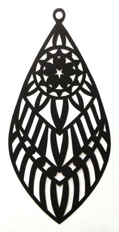 cut paper design Earring Design