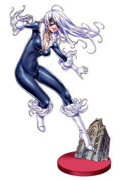 Anime Style Ladies of Marvel and DC by Shunya Yamashita - Black Cat Archie Comics, Marvel Comics Art, Bd Comics, Comics Girls, Marvel Heroes, Comic Book Characters, Marvel Characters, Comic Books Art, Female Characters