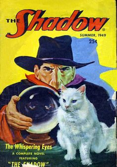 GEORGE ROZEN - art for The Whispering Eyes by Walter Gibson - Summer 1949 The Shadow magazine