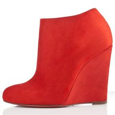 Discount Christian Louboutin Belle Zeppa 100mm Booties Mandarin [CL201300677] - $164.50 : Christian Louboutin shoes on sale, christianlouboutinoutletkal.org
