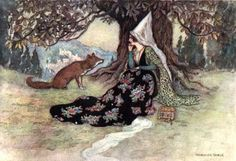 """""""Grannonia and the fox"""" by Warwick Goble"""