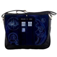 """Dr Who Tardis 14"""" Messenger Bag Shoulder Sling School Laptop NoteBook School Bags. $25.00, via Etsy."""