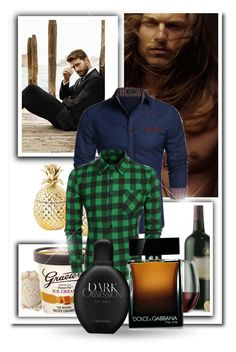 """""""CNDirect 30"""" by zearalenon ❤ liked on Polyvore featuring Libbey, Dolce&Gabbana, Calvin Klein, men's fashion and menswear"""