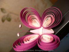 Como hacer una mariposa de papel con filigrana