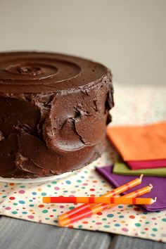 Fudge Birthday Cake