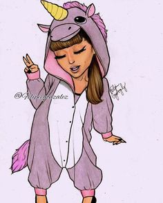 What a beautiful unicorn @arianagrande  // pls guys tag ariana so many times, follow my personal @felipegoca and repost if you want  Im so proud of this bc she looks so cute  thanks for all your support guys! Forever grateful