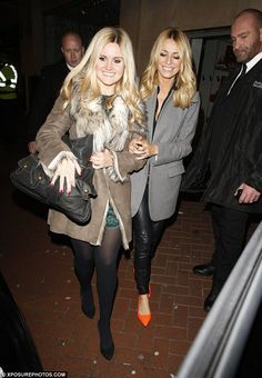 Calling it a night: While Zoe hit up the club, co-host Tess Daly went for the sensible opt...