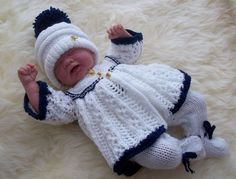 "DK Knitting Pattern for 14 16"" Dolls Clothes Reborn Early Baby Andy Pattern 37"