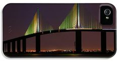 Sunshine Skyway at Dusk iPhone 5 Case / iPhone 5 Cover for Sale by Daniel Woodrum
