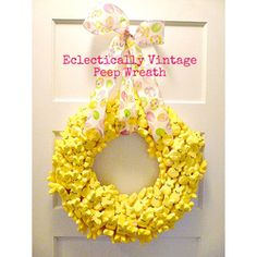 Peep Wreath From @EclecticallyVintage  #Easter #Desserts #Sweet #treats #Peeps