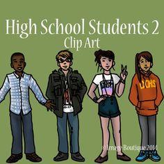 High School Teenager Students 2 Clip Art High school Teaching high school School