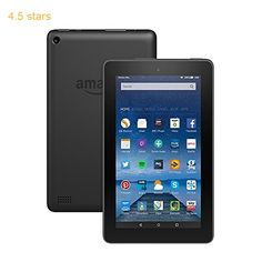 (Rating: 4.5 stars) Fire Tablet 7 Display Wi-Fi 16 GB (Black)  Includes Special Offers This remains a top choice sitting right up there with the best products in Electronics  category. Click below to see its Availability and Price in your country.
