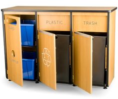 Future recycle station in laundry/mud room.
