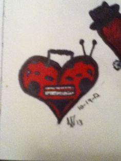 Boom box heart by Abigail Wells