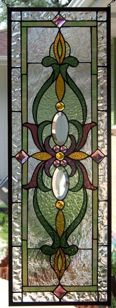 Victorian Style Stained Glass Window Hanging by StevesArtGlass