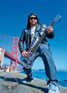 MetClub Prague  Metallica  Bassist   Robert Trujillo with the San Francisco Golden Gate bridge behind him