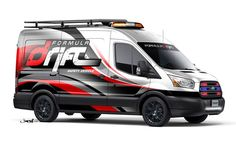 The first-ever all-new 2015 Ford Transit custom vans will debut at this year's SEMA show in Las Vegas. Ford Transit, Vehicle Signage, Vehicle Branding, Van Signs, Customised Vans, Muscle Truck, Formula Drift, Transit Custom, Van Wrap
