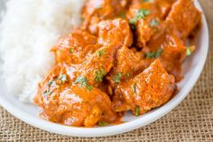 Slow Cooker Indian Butter Chicken with spices you already have in your cabinet with all the creamy deep flavors you'd expect from your favorite restaurant.