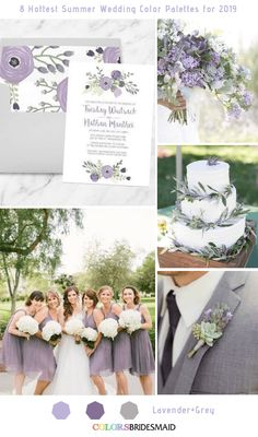 Wedding Trends 8 Fresh Summer Wedding Color Palettes and ideas for 2019 Lavender and Grey Dusty Rose Wedding, Purple Wedding, Wedding Flowers, Dream Wedding, Lavender Grey Wedding, Lavender Weddings, Sunflower Weddings, Gray Weddings, Country Weddings
