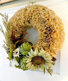 Autumn Coffee Filter Wreath :: Hometalk