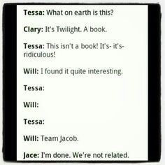 Will is Team Jacob. How has it come to this?
