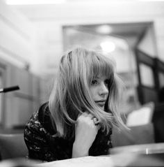 by Gered Mankowitz Marianne Faithfull recording, Decca, West Hempstead, London, 1964.