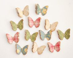 12 Handmade LAYERED BUTTERFLIES with a Touch of by PapersAndPetals, $2.75