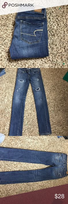 AEO Super Stretch Skinny Jeans ✨ AEO Super Stretch Skinny Jeans💕 Size 2 💕 Inseam 31  ⁉️Need more information or measurements? Please don't hesitate to ask  ❌Sorry, I am unable model items!  ✅ Fast Shipper: Shipping Same Day/Next Day  🚫I do not trade items 💕I do accept REASONABLE offers ☺ American Eagle Outfitters Jeans Skinny