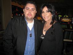 José Adán Buenrostro y Veronica Castro en el 2008. Jose Adan estuvo presente cuando se revelo la estrella de Veronica Castro en Las Vegas, NV.