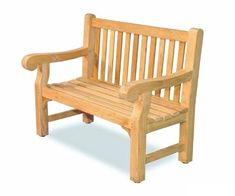 Wooden Lutyens Garden Bench and Table Forest White Finish B Grade Stock