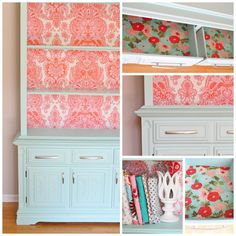 Beautiful painted hutch with fabric-lined shelves Season 16 Week 1 | So You Think You're Crafty