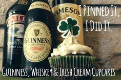 I Pinned It, I Did It: Guinness, Whiskey & Irish Cream Cupcakes | | The Wilderness Girls