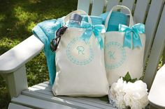 Michaels.com Wedding Department: Monogram Totes Make your mark on the big day with personalized monogrammed totes. They're the perfect carryall for wedding day necessities, and the perfect gift for the modern bridesmaid.Designed by the Michaels Design Studio.