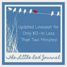The Little Red Journal: Update Your Loveseat for Only $12—in Less Than 2 Minutes! | #minimalism #frugal #decor #home