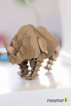 rhino, cardboard, muji