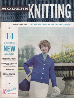 VINTAGE 1960s MODERN KNITTING MACHINE KNITTING PATTERNS MAGAZINE AUGUST 1961