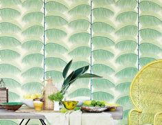 Wallpapers for dining rooms #wallpaperdesign #greenwallpapers #diningroomwallpapers #diningroomwallpaper #treestylewallpaper