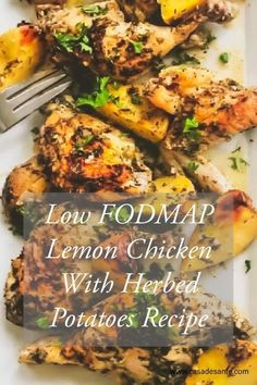 450 calories of low fodmap, soy free and gluten free goodness per serving. We really recommend this recipe for low fodmappers who wish to load up on protein. You will fall in love with the flavor of this dish, enhanced by Casa de Sante Lemon Herb Mix! Fodmap Meal Plan, Fodmap Diet, Low Fodmap, Fodmap Foods, Fodmap Recipes, Gluten Free Recipes, Diet Recipes, Healthy Recipes, Recipes For Ibs