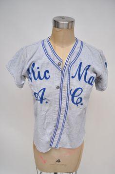 vintage baseball jersey MIC MAC CARDINALS by goodbyeheartwoman