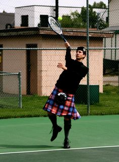 Kilt tennis player