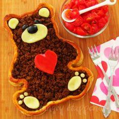 A Valentine's Day Dinner - Teddy Bear Taco Tart