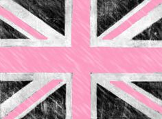 I want this EVERYWHERE! Pink and black union jack...yes!
