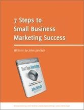 """7 Steps to Small Business Marketing Success  Most people don't think of marketing as a """"system"""". But I'd like to challenge you to start thinking of marketing as one of the most important systems in your business.  This Ebook contains the 7 core steps that make up the simple, effective, and affordable Duct Tape Marketing System. https://marketingsystemsbydesign.com/free-ebooks/"""