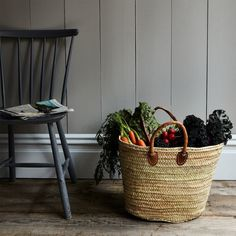 Basket of bounty. Tote your farmers market spoils (or a load of laundry, or a couple of beach towels and a good book!) around in this chic, simple market basket made from sturdy and flexible date palm leaf.