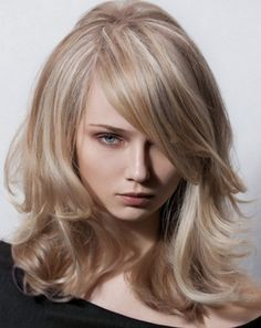Sandy blonde hair with highlights