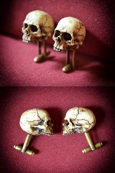Skull Cufflinks - Skullspiration.com - skull designs, art, fashion and more