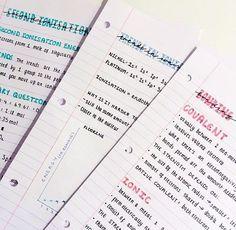 Cute Notes//Pink//Blue #WhatDoesYourHandwritingSayAboutYou?
