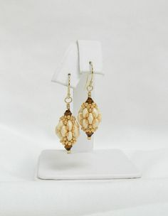 Swarovski Beaded earrings Beaded Swarovski by LS4Swarovski on Etsy