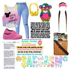"""""""*SARCASM*"""" by ms-prettymama ❤ liked on Polyvore featuring Vans and Beats by Dr. Dre"""